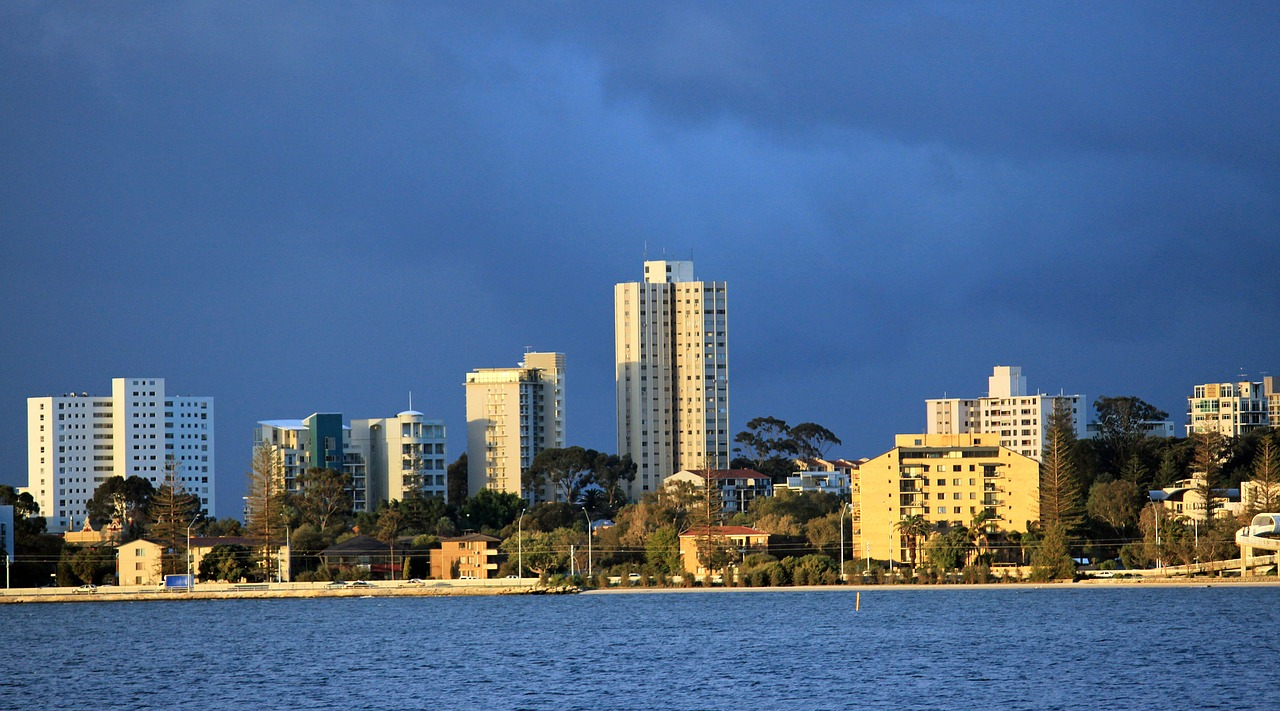 Skyline vonn Fremantle (Perth)