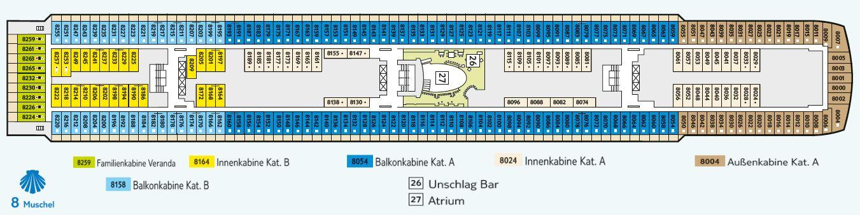 Aktueller Deckplan Der Mein Schiff 2