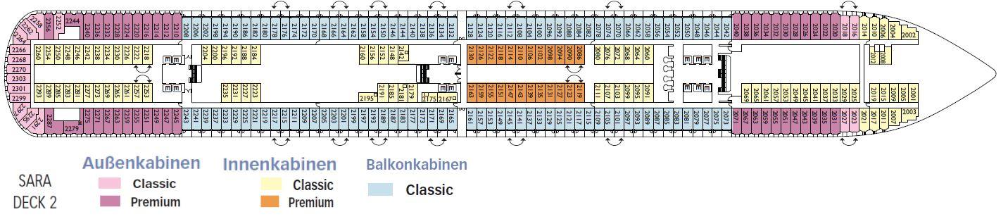 Aktueller deckplan der costa diadema for Deckplan costa diadema