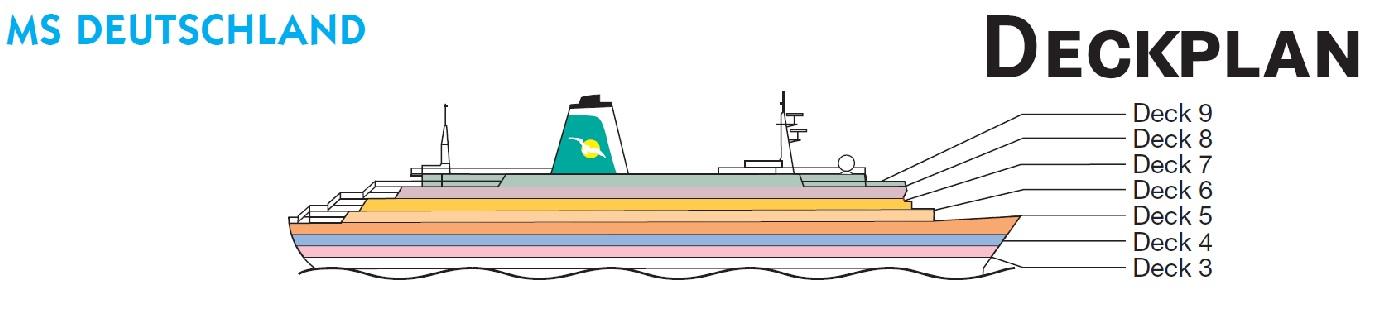Aktueller Deckplan Der Ms Deutschland