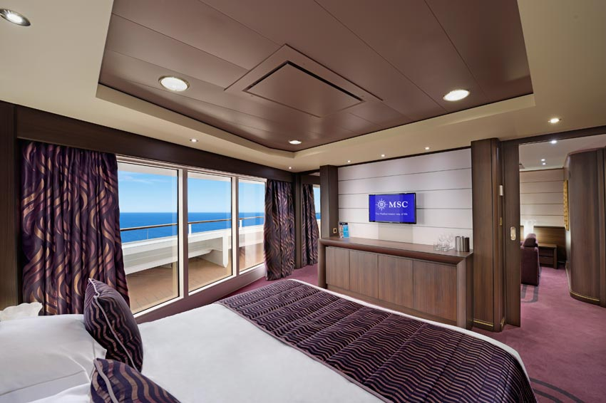 MSC Preziosa Aurea Suite mit Panoramafenster