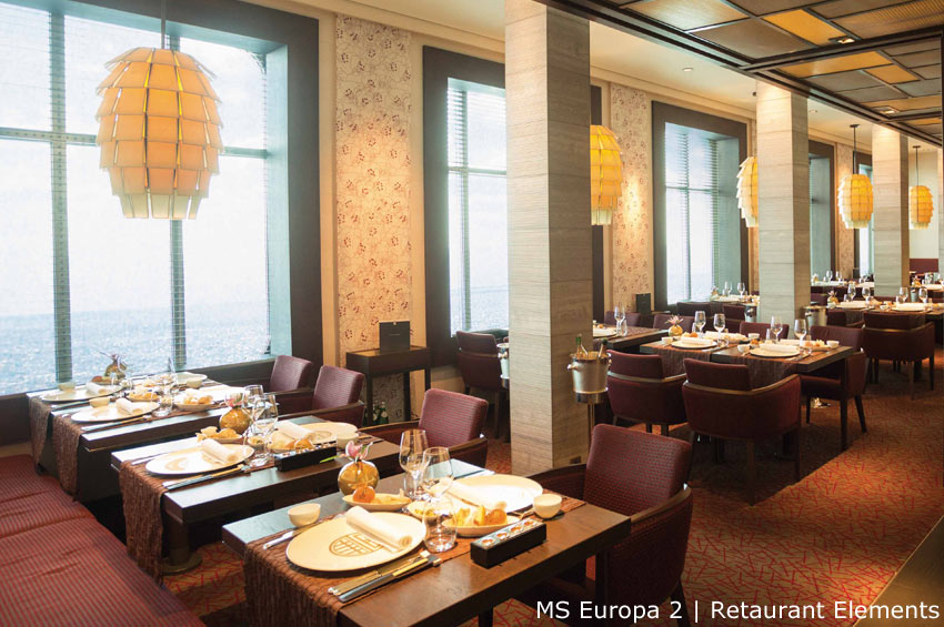 MS Europa 2 | Restaurant Elements