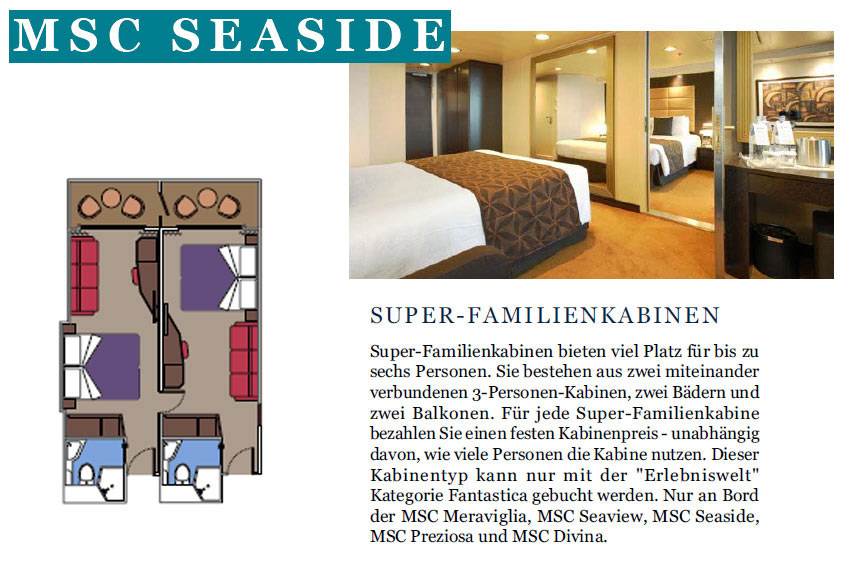 Familien Kabinen | MSC Seaside