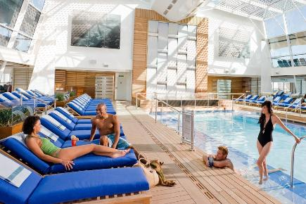 Celebrity Reflection Solarium Poolbereich