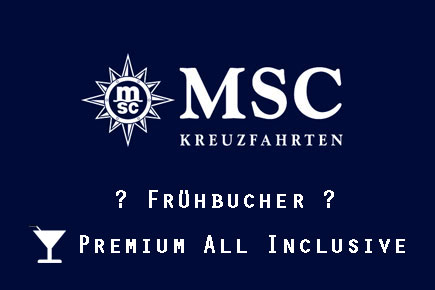 MSC Frühbucher & Premium All in