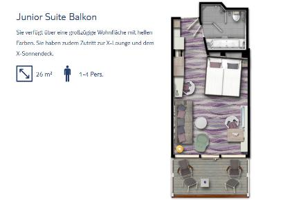 Junior Suite Balkon Grundriss