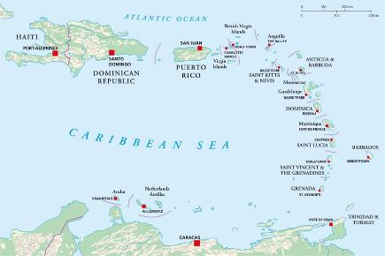 Karibik Karte.Südliche Karibik Kreuzfahrten 2019 2020