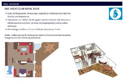 MSC Seaview | Yacht Club Royal Suite