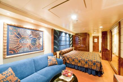 MSC Splendida Deluxe Yacht Club Suite, schlafen