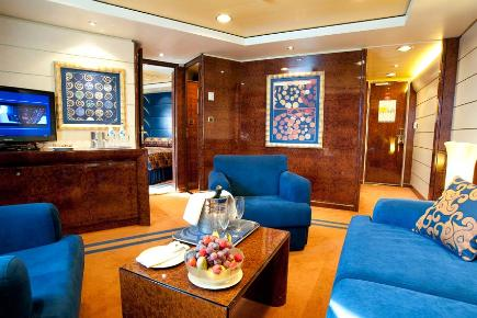 MSC Splendida, Executive & Family Yacht Club Suite, wohnen