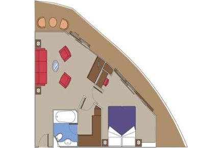 MSC Splendida Royal Yacht Club Suite, Grundriss