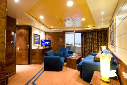 MSC Splendida Royal Yacht Club Suite, wohnen