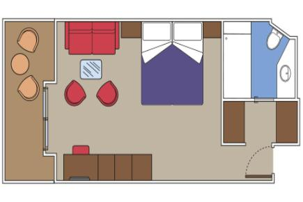 Yacht Club Deluxe Suite I Grundriss