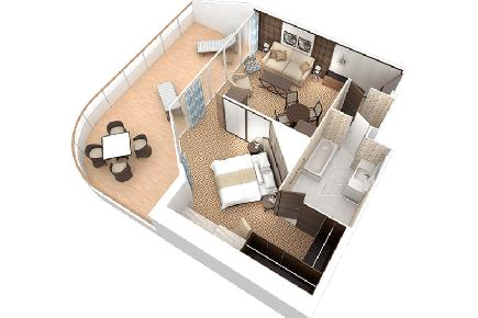 Club World Owner`s Suite, Grundriss