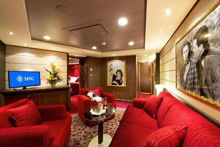 Royal Yacht Club Suite Sophia Loreen - MSC Divina