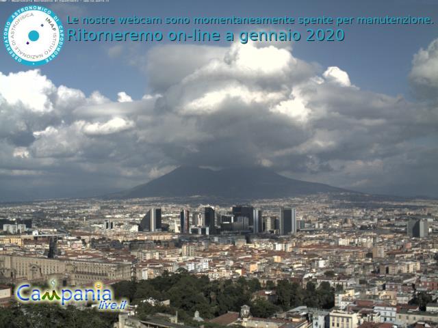 Blick auf Neapel, im Hintergrund der Vesuv