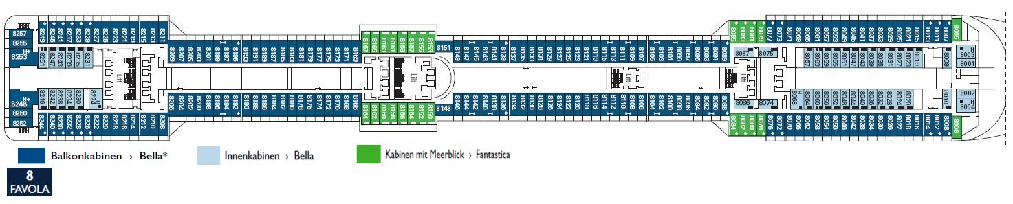 Aktueller Deckplan Der Msc Fantasia