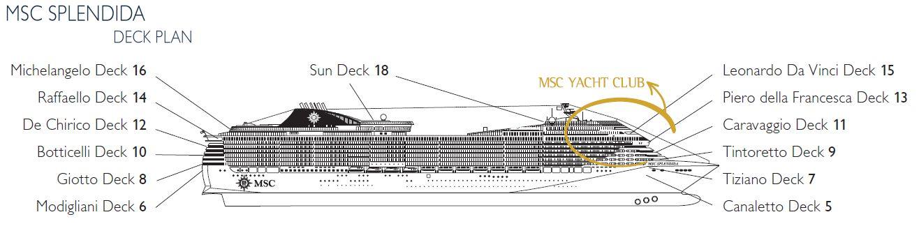 Aktueller deckplan der msc splendida for Deckplan msc splendida