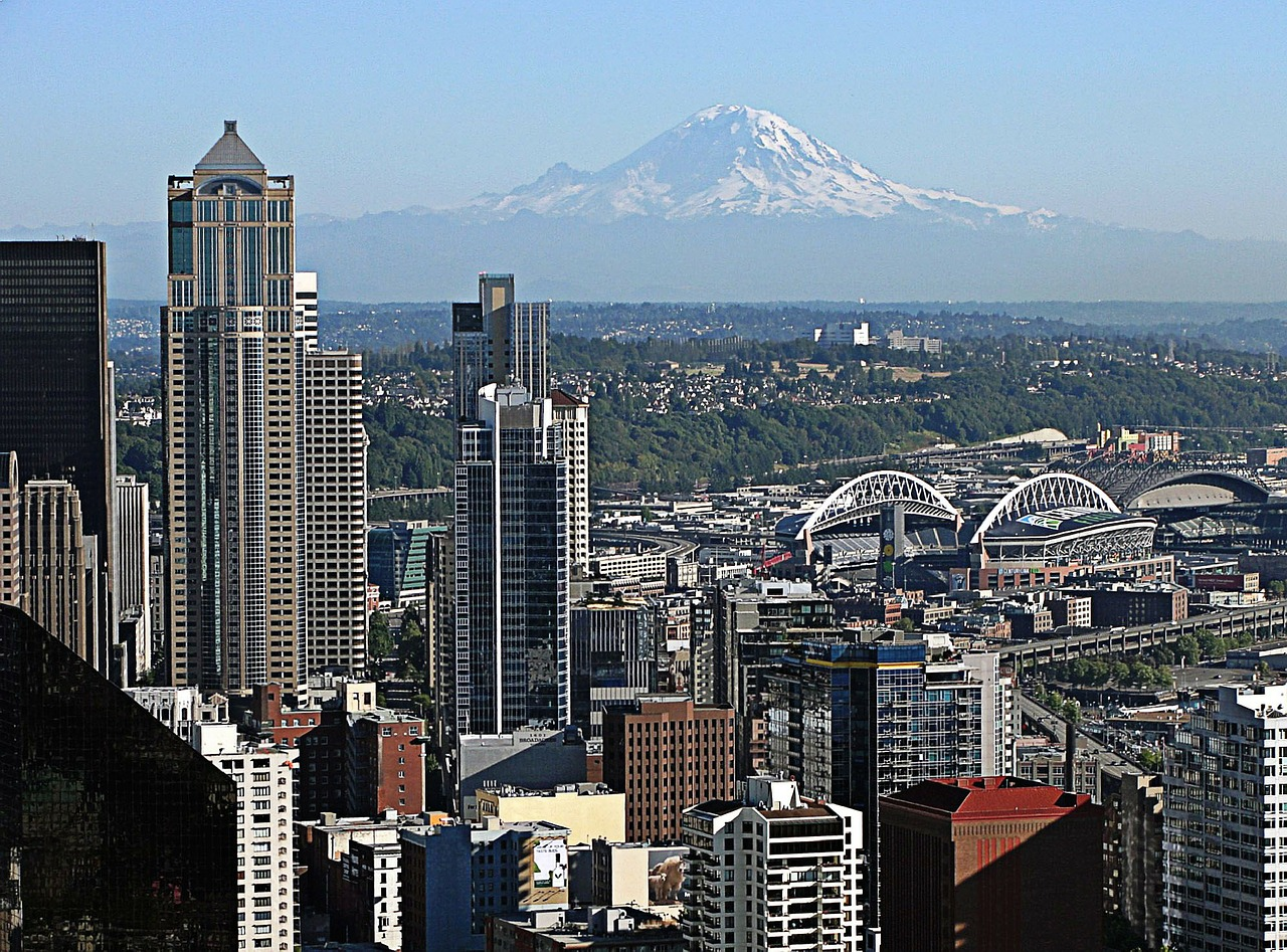 Seattle, Mount Rainier, Washington